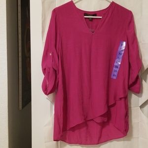 Fever, XS 3/4 sleeve, sheer top, BNWT